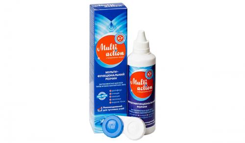 Многофункциональный раствор для контактных линз Multi Action (Esoform)