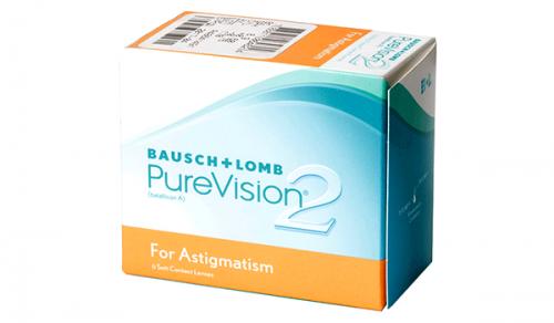 Купить торические контактные линзы для астигматизма PureVision 2 (Bausch + Lomb) с доставкой в Сумах, Хмельницком, Полтаве, Кировограде, Ужгороде