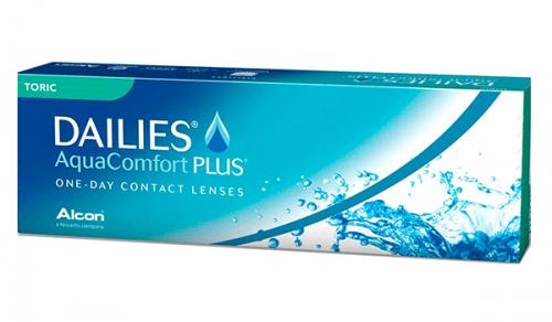 Купить торические контактные линзы для астигматизма Dailies Aqua Comfort PLUS (Дейлиз) (Alcon) с доставкой в Сумах, Хмельницком, Полтаве, Кировограде, Ужгороде