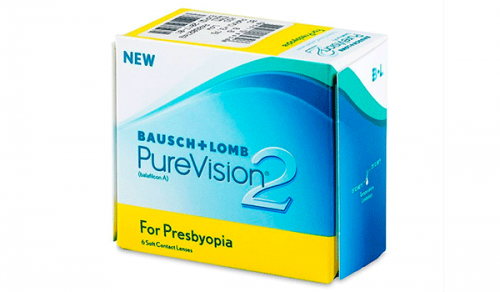 Купить мультифокальные контактные линзы для коррекции пресбиопии Pure Vision 2 Multifocal с доставкой в Бердянске, Мариуполе, Запорожье, Чернигове