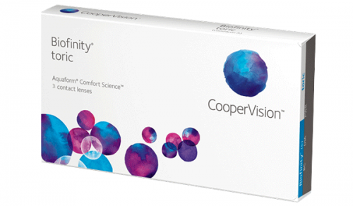 Купить торические контактные линзы для астигматизма Biofinity Toric (Биофинити Торик) (Cooper Vision) с доставкой в Сумах, Хмельницком, Полтаве, Кировограде, Ужгороде