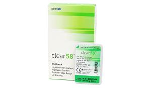 Купить месячные контактные линзы Clear 58 в Виннице, Кировограде, Умани