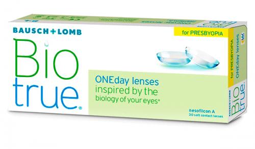 Купить мультифокальные контактные линзы для коррекции пресбиопии Biotrue ONEday For Presbyopia с доставкой в Бердянске, Мариуполе, Запорожье, Чернигове