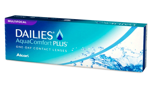 Купить мультифокальные контактные линзы для коррекции пресбиопии Dailies Aqua Multifocal с доставкой в Бердянске, Мариуполе, Запорожье, Чернигове