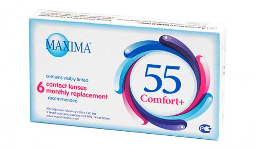 Купить месячные контактные линзы Maxima 55 Comfort + в Виннице, Кировограде, Умани